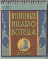 Destilerias Hilario Botella. Jativa. Catalogo General