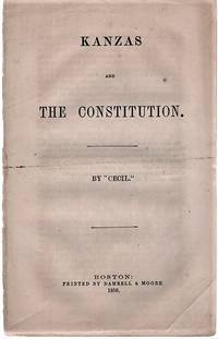 "KANZAS AND THE CONSTITUTION.  By ""Cecil."""