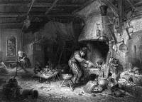 image of J. C. Bentley Engraving, The Alchemist, After The Painting By Adriaen van Osten
