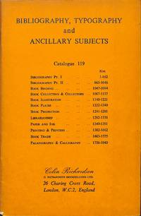 Catalogue119/n.d.: Bibliography, Typography  and Ancillary subjects.