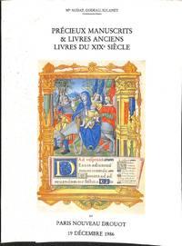 Vente 19 Dec. 1986: Précieux MSS & Livres Anciens, Livres du XIXe Siècle.
