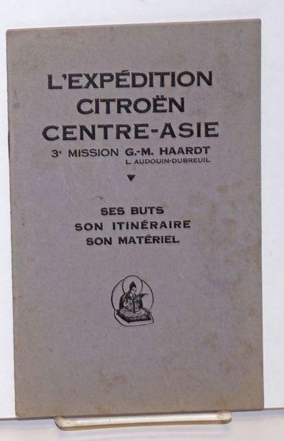 Paris: L'Edition Artistique , 1930. Pamphlet. 17p., b&w vignette photography throughout (portraits o...