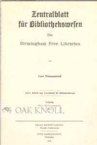 BIRMINGHAM FREE LIBRARIES.|DIE
