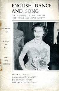 image of English Dance and Song  :The Magazine of the English Folk Dance and Song Society : Vol XV No 2  Sept 1950