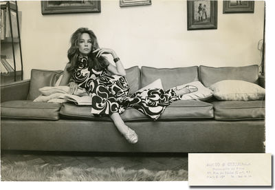 N.p.: N.p., 1970. Vintage oversize, borderless press photograph of actor and dancer Leslie Caron, ci...