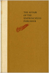 THE AFFAIR OF THE UNPRINCIPLED PUBLISHER. BY JOHN H. WATSON, M.D. AS DISCOVERED BY...