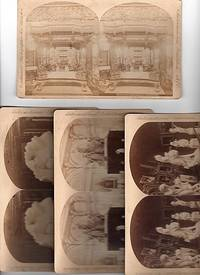GROUP OF FOUR (4) STEREOSCOPIC VIEW CARDS SHOWING INTERIOR VIEWS OF THE CENTENNIAL INTERNATIONAL EXHIBITION, PHILADELPHIA, 1876