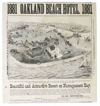 1881 OAKLAND BEACH HOTEL.  1st Brought Before the Public Generally for the First Time, and It Is the Second Season Under the Able Management of the Undersigned, who Takes Especial Pleasure in So Doing, for it is Certainly the Most BEAUTIFUL And ATTRACTIVE RESORT On NARRAGANSETT BAY [Rhode Island]