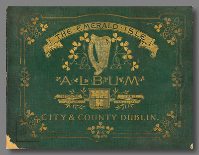 : Emerald Isle Album Company, 1902. pop. Oblong quarto. Cloth-textured stiff wrappers, elaborately s...