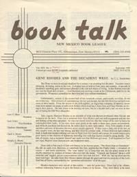 Book Talk: Volume XIX, Number 4, September 1990