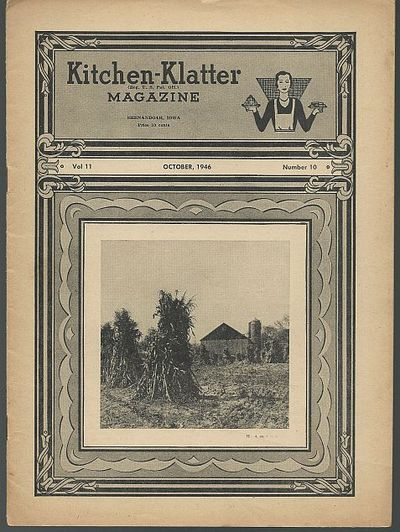 KITCHEN KLATTER MAGAZINE OCTOBER 1946, Driftmier, Leanna Field
