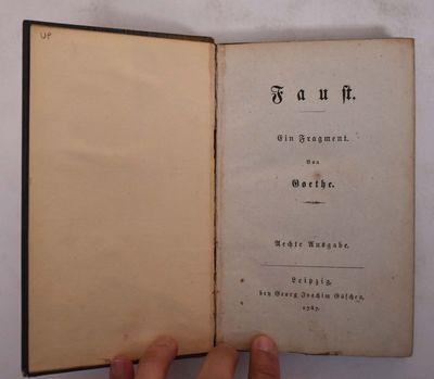Leipzig: Bey Georg Joachim Göschen, 1787. Hardcover. VG overall, tender in a few spots. Silk-covere...