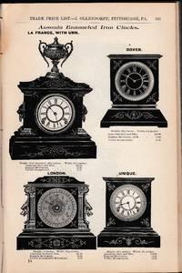 1891 - 1892 Illustrated Price List. I Ollendorff Importer of Diamonds, Jobber in Watches, Jewelry, Clocks, Bronzes, Silverware ....