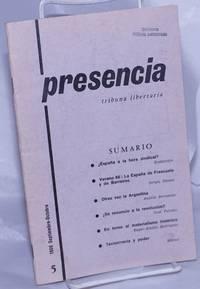 image of Presencia: tribuna libertaria.  No. 5, Septiembre-Octubre 1966