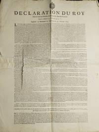 Declaration du Roy Pour la Levée du Dixieme du Revenue des Biens du Royaume. Donnée...