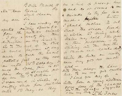 """ALS. 2pg. 5¼"""" x 8¼"""". March 18, 1884. Boston, MA. An autograph letter signed """"J.M. Forbes"""" ..."""
