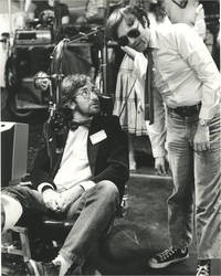 Gremlins (Original photograph of Joe Dante and Steven Spielberg on the set of the 1984 film)