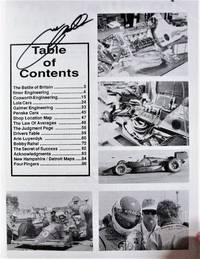 Inside Indy Car Racing. Volume 3. by  Rick. Signed Copy Amabile - Paperback - Signed First Edition - 1992 - from Ken Jackson and Biblio.com