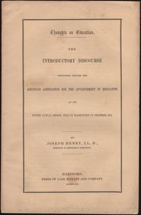 image of Thoughts on Education. The Introductory Discourse delivered before the American Association for the Advancement of Education at its Fourth Annual Session, Held in Washington in December, 1854