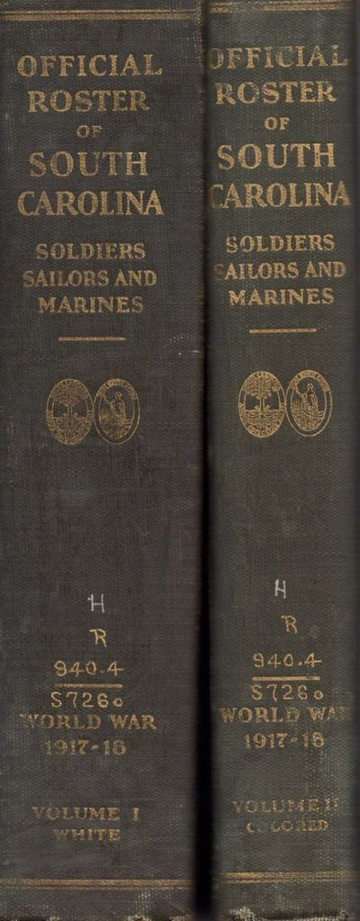 Columbia: State of South Carolina, 1929. First Edition. Hardcover. Good. Tall quartos. Two volumes: ...