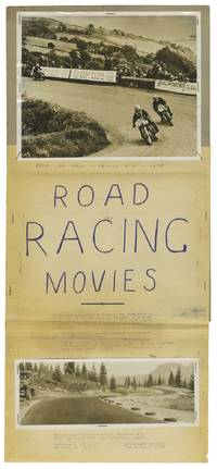 image of Road Racing Movies (Original handmade poster / maquette for motorcycle road races held in Vancouver and on the Isle of Man)