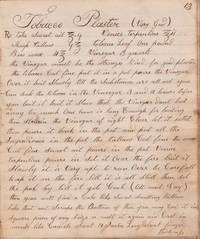 American medical recipe manuscript kept by Peter and Aaron Shank ca. 1855 in Ohio