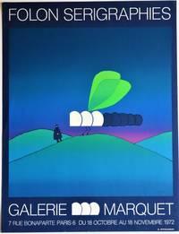 Folon Serigraphies, Galerie Marquet: Silkscreen Exhibition Poster