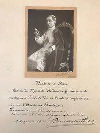 BENEDICT XV Papal Blessing on a Signed Photo