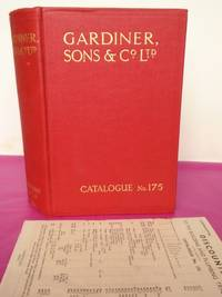GARDINER Sons & Co Ltd of BRISTOL. Builders and Ironmongery Catalogue No 175 1936.