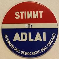 image of Stimmt für Adlai [large pinback button]