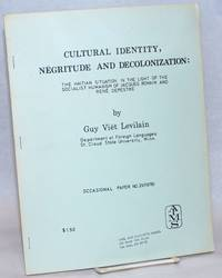 image of Cultural Identity, Negritude, and Decolonization: The Haitian Situation in the Light of the Socialist Humanism of Jacques Romain and Rene Depestre