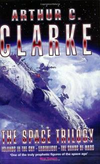 """image of Space Trilogy: Three Early Novels: """"Islands of the Sky"""", """"Earthlight"""", """"The Sands of Mars"""" (GOLLANCZ S.F.)"""