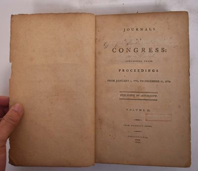 Philadelphia: From Folwell's Press, 1800. One of 400 copies printed at the direction of Congress. Le...
