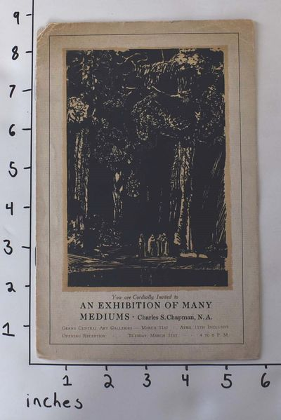 New York: Grand Central Art Galleries, nd. Pamphlet. Good- with clean, unmarked contents but soiling...