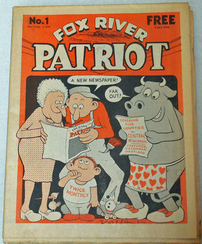 Princeton, Wisconsin: Fox River Patriot, 1976. First edition. Paperback. Very Good. Folded newspaper...