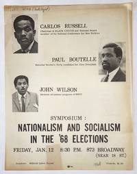 image of Symposium: Nationalism and Socialism in the '68 elections [handbill]