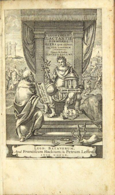 Franciscum Hackium & Petrum Leffen, 1660. 8vo, pp. , 938, ; engraved title-p.; contemporary full mot...