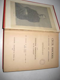 Cecil Rhodes: A Biography and Appreciation [Hardcover] [Jan 01, 1897] DrJameson by Imperialist