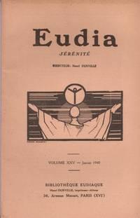 EUDIA  volume XXV - Janvier 1940 by Durville  Rivasson  Osmont - 1940 - from Le Grand Chene (SKU: 25793)