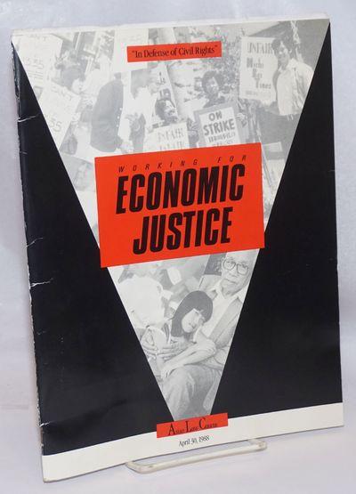 n.p.: Asian Law Caucus, 1988. Magazine. 8.5x11 inches, staplebound program booklet for the organizat...