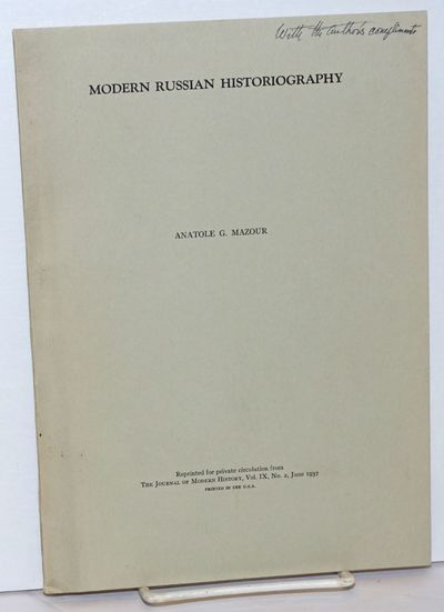 Chicago: University of Chicago Press, 1937. Pamphlet. Offprint, pp.169-202, softbound in plain print...