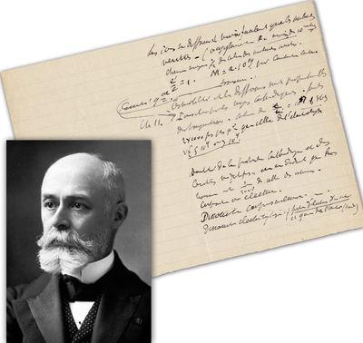 Becquerel Antoine Henri Becquerel, Discoverer of Radioactivity, Original Scientific Manuscript  1p...