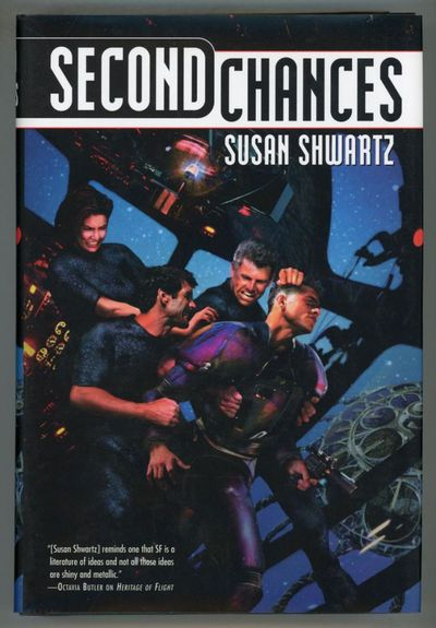 New York: Tor, 2001. Octavo, boards. First edition. Military space opera with a nod to Joseph Conrad...