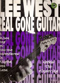 image of REAL GONE GUITAR: A MIXED BAG OF BAD-AXE ADVENTURES IN RHYTHM AND LEAD:  NOTES TAP FINGERING