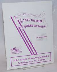 The 1983 Gay Pride Concert: Feel the pride, share the music; souvenir program, John Anson Ford Aphiteatre, Sat., June 18 8:30pm