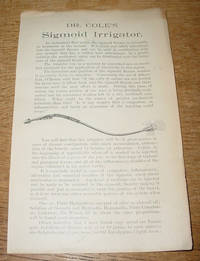 Dr. Cole's Sigmoid Irrigator