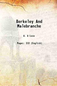 Berkeley And Malebranche 1934