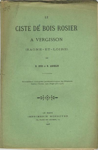 Le Mans, France: Imprimerie Monnoyer, 1908. Offprint. Paper wrappers. A good copy with detached wrap...
