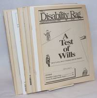 The Disability Rag. [broken run:] Volume 13 No. 5 September/October 1992; Jan/Feb 93; Jan/Feb 95, Mar/Apr 95, May/Jun 95, Jul/Aug 95, Sep/Oct 95, Mar/Apr 96, Ju./Aug 96 [9 unduplicated issues]