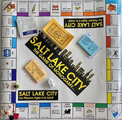 Salt Lake City: Word Publishing, 1990. Printed tube . Tube contains: Playing board printed in color,...